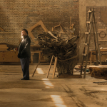 Ai Weiwei in his studio. Photograph © Harry PearcePentagram 2015